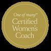 OneofmanyCertifiedWomensCoach_Roundel_Gold
